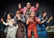 Das aktuelle Ensemble des luki*ju-Theaters überzeugt durch ein facettenreiches Spiel im Stück «Gaia». (Bild: Marcel Kaufmann)