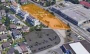 Luftaufnahme mit den eingezeichneten Grundstücken. (Bild: Gemeinde Horw)