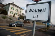 Ortstafel von Wauwil. (Archivbild Neue LZ)
