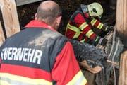 Die Feuerwehr brachte den Brand schnell unter Kontrolle. (Symbolbild) (Bild: Roger Grütter / Neue LZ)