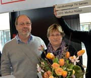 Markus Röösli mit seiner Frau Lotti. (Bild: Romano Cuonz / Neue OZ)