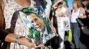 Demonstration zum zweiten Todestag des mutmasslich ermordeten argentinischen Staatsanwaltes Alberto Nisman. (Bild: Victor R. Caivano/Keystone (Buenos Aires, 18. Juni 2017))