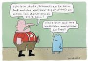 Die Schweiz hat die Grippe (Bild: Cartoon: Ruedi Widmer)