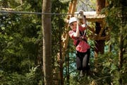 Die Seilrutsche ist rund 1000 Meter lang. (Bild PD)
