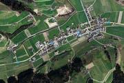 In der Luthern, die Gettnau durchfliesst, wurde am Donnerstag eine Leiche entdeckt. (Bild: maps.search.ch)
