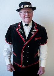 Alphornbläser Josef Erni (89) (Bild: Boris Bürgisser / Neue LZ)