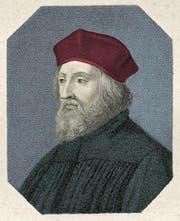 Jan Hus (1370–1415) in einer zeitgenössischen Darstellung. (Bild: PD)