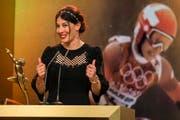 Dominique Gisin ist Sportlerin des Jahres 2014. (Bild: Keystone)