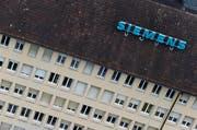 Das alte Siemens-Gebäude, fotografiert vom Parktower. (Bild: PD)