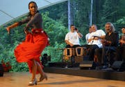 Wie hier beim Obwald 2012 wird auch heuer wieder Flamenco getanzt. (Bild: Romano Cuonz / Neue OZ)