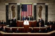 Papst Franziskus spricht den amerikanischen Abgeordneten ins Gewissen. (Bild: AP/Pablo Martinez Monsivais)
