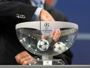 In Nyon wurden am Freitagmittag die Viertelfinals in der Champions League ausgelost (Bild: KEYSTONE/MARTIAL TREZZINI)