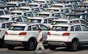 Geländewagen der chinesischen Marke Great Wall Motors. (Bild: Andy Wong/Keystone (Baoding, 19. Februar 2017))
