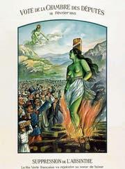 Von der «Grünen Fee» zur «Grünen Hexe»: Absinth wurde 1908 verboten. (Bild: Blaues Kreuz)