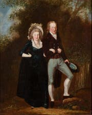 Elegantes Paar in Landschaft, undatiert. (Bild: pd)