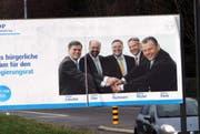 Ein Wahlplakat der FDP im Januar 2010 in Steinhausen. (Symbolbild Neue ZZ)