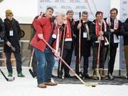 Präsentation von «Sion 2026» mit Skiass Roland Collombin. (Bild: Peter Schneider/Keystone (Bern, 20. Januar 2017))