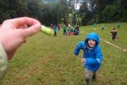 Fightgame vom Blauring Riffig: nur mit erkämpften Sugus kommt man ein Feld weiter! (Bild: Eugster Lea)