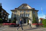 Gemeindehaus in Kriens: Der Gemeinderat will bis 2019 schwarze Zahlen schreiben. (Archivbild Pius Amrein)