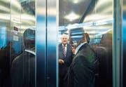 Rauf oder runter? Die Zukunft von CSU-Chef Horst Seehofer ist ungewiss. (Bild: Lukas Barth-Tuttas/EPA (München, 25. September 2017))