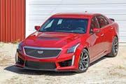 Cadillac mischt den europäischen Markt auf: In seiner dritten Generation ist der CTS-V konkurrenzfähig mit Anbietern von sportlichen Limousinen im Premium-Segment. (Bild: PD)