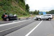 Die Unfallstelle auf der Rothenstrasse. (Bild: Luzerner Polizei)
