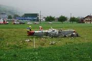 Am 23. Juli 2013 kamen bei diesem Flugzeugabsturz in Kägiswil drei Personen ums Leben. (Bild Kapo Obwalden)