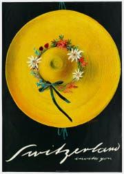 Carigiets Tourismusplakat «Switzerland invites you» von 1937. (Bild: Schweizerisches Nationalmuseum/Alois Carigiet Erben)