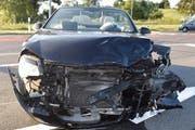 Zwei Autofahrer wurden beim Unfall verletzt. Der Sachschaden beträgt 25'000 Franken. (Bild Luzerner Polizei)
