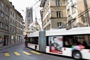Das historische Quartier Bourg mit der Kathedrale im Kantonshauptort Fribourg. (Bild: Jran-Christophe Bott/Keystone)