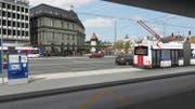Am Bahnhof sollen für die Busse neue Perrons entstehen. (Bild: Visualisierung VVL)