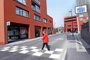 Im Dorfzentrum von Rotkreuz geht es langsamer zu. (Bild Werner Schelbert)