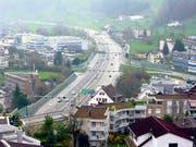Der heutige Autobahnanschluss Wollerau. (Bild: Bundesamt für Strassen)