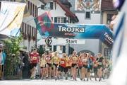 Am Willisauer Lauf starteten auch junge Läuferinnen und Läufer. (Bild: Roger Grütter / Neue LZ)