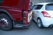 Auf der Autobahn in Göschenen kam es zum Zusammenstoss. (Bild: Urner Polizei)