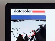 Das Logo auf der Website der Datacolor. (Bild: Keystone)