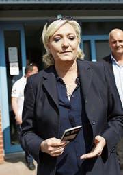 Die Chefin des Front National, Marine Le Pen. (Bild: Thibault Vandermersch/EPA ()