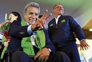 Glücklicher Wahlsieger: Lenin Moreno. (Bild: Jose Jacome/EPA (Quito, 3. April 2017))
