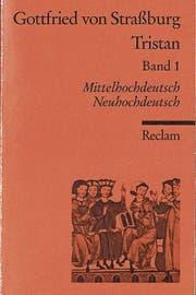 Zweisprachiges ist seit 1970 orange: Hier der mittelhochdeutsche Roman «Tristan».