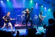 Wird vom Kanton Zug finanziell unterstützt: «Rock the Docks»-Festival am 28. bis 30. August in Zug. Im Bild: Die Hardcore-Band «Das Empire» bei ihrem letztjährigen Auftritt. (Bild: Stefan Kaiser)
