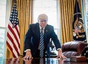 Amerika nach 100 Tagen Präsident Donald Trump (Bild: Andrew Harnik/AP (Washington, 21. April 2017))