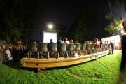 Übertragung eines Films im Openair Kino Sursee. (Bild Kinosursee.ch)