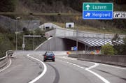 Die Ausfahrt Hergiswil muss zeitweise gesperrt werden. (Bild: Archiv Neue NZ)