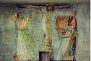 Eine von sechs Szenen der Passion Christi in der Kapelle des ehemaligen Kantonsspitals. (Bild: PD / Alois Ottiger)