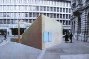 So stellte sich Georg Keller sein Bühnenprojekt für Banker auf dem Zürcher Paradeplatz vor. (Bild: PD)