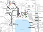 Die neuen Streckenführungen der Linien 6, 7 und 16 der ZVB. (Bild: PD)