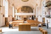 Während der Renovation werden Gottesdienste vorübergehend in der reformierten Kirche Vitznau und im Pfarrsaal stattfinden. (Bild: Roger Grütter (25. März 2017))