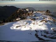 Klewenalp-Stockhütte: 2 von 13 Anlagen offen. (Bild: Webcam)