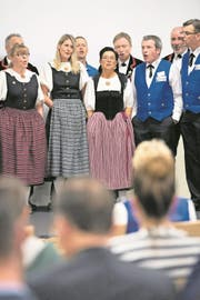 Der Jodlerklub Bärgglöggli stimmte am Infoabend musikalisch auf das Zentralschweizerische Jodlerfest in Schötz ein. (Bild: Eveline Beerkircher (Schötz, 21. März 2018))
