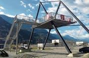 Für die Aussichtsplattform der Alptransit Gotthard AG im Rynächt wird ein neuer Standort gesucht. (Bild: PD)